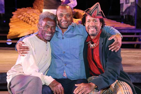 Andre De Shields, Director Carl Cofield and Allen Gilmore Photo