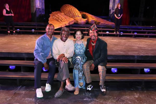 Carl Cofield, Andre De Shields, Lia Chang, Allen Gilmore. Photo by David R. Molina Photo
