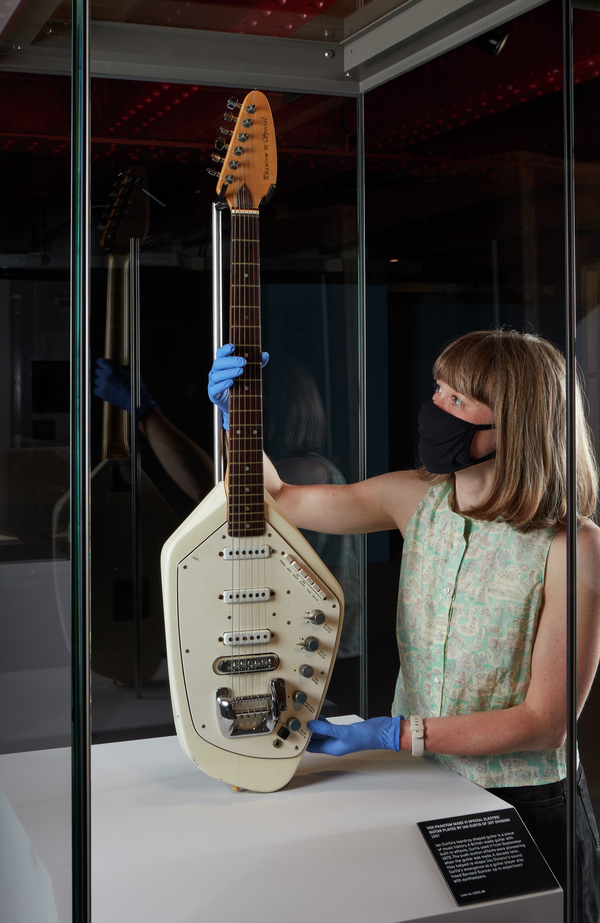 Photos: Ian Curtis' Iconic Guitar Returns To Manchester For Exhibition