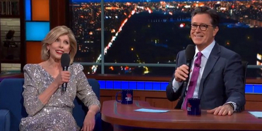 VIDEO: Stephen Colbert and Christine Baranski Perform 'Side by Side' From COMPANY on THE L Photo