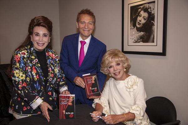 Host Donelle Dadigan, Michael Feinstein and Ruta Lee Photo