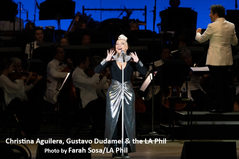 BWW Review: Christina Aguilera Hits It Out Of Bowl With The LA Phil