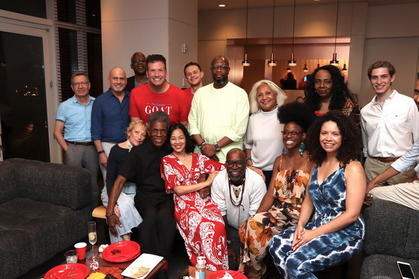 Seated: Arlene Bowman, Andr  De Shields, Lia Chang, Samuel-Moses Jones, Kimberly Mara Photo