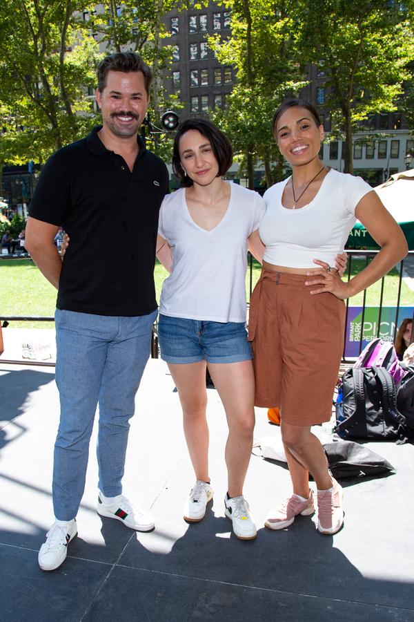 Andrew Rannells, Lauren Patten, Ciara Renee Photo