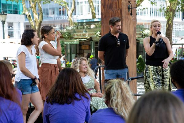 Lauren Patten, Ciara Renee, Ali Stroker, Andrew Rannells, Betsy Wolfe Photo