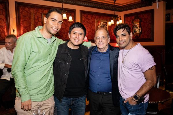 Matt Drucker, Rudy Ortiz, John Minnock and Raj Krshna Photo by Leslie Farinacci Photo