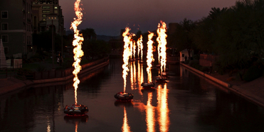 Fire Shows Return To Scottsdale Waterfront For Canal Convergence 2021 Photo