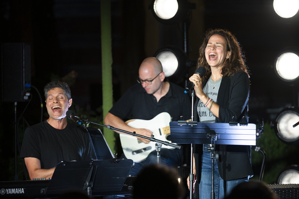 Tom Kitt, Mandy Gonzalez, Michael Aarons Photo