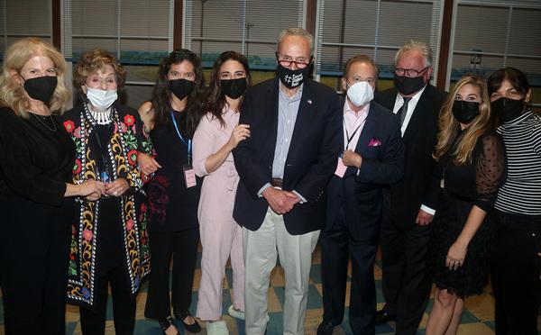 Jessie Nelson, Fran Weissler, Diane Paulus, Sara Bareilles, Senate Majority Leader/Ne Photo