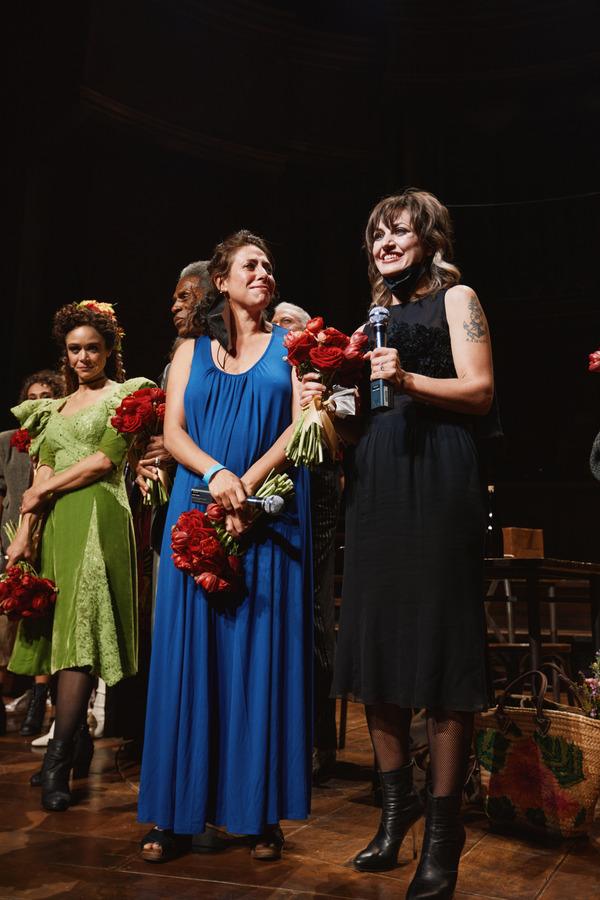 Amber Gray, Andre De Shields, Rachel Chavkin, Anais Mitchell Photo