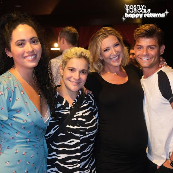 Bianca Giselle, Daisy Eagan, and Garrett Clayton celebrate with performer Alli Miller Photo