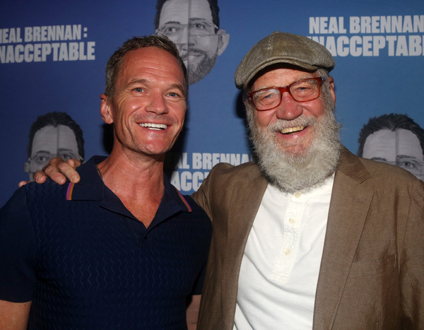 Neil Patrick Harris and David Letterman  Photo