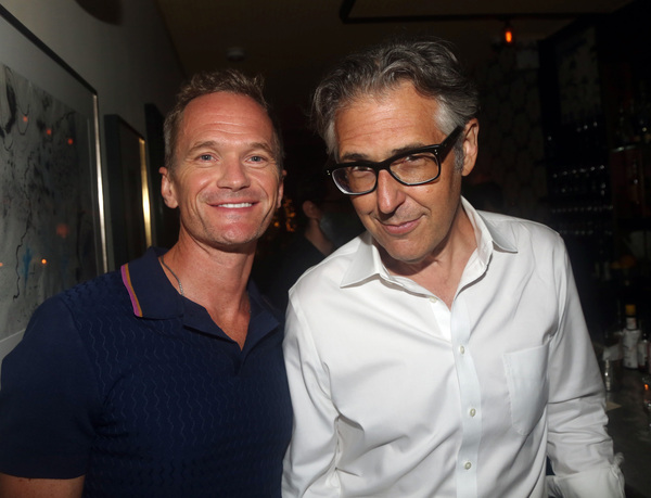 NEW YORK, NEW YORK - SEPTEMBER 09: Neil Patrick Harris and Ira Glass pose at the open Photo