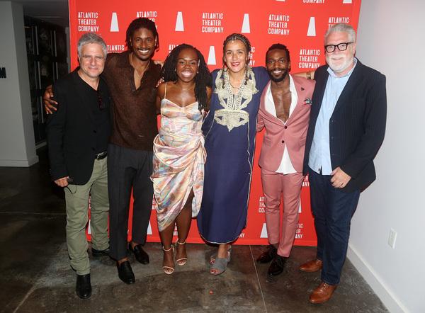 Artistic Director of the Atlantic Theater Neil Pepe, Xavier Scott Evans, Ngozi Anyanw Photo