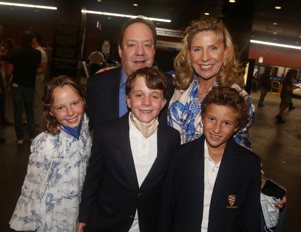 James Nederlander Jr., Margo Macnabb Nederlander and kids  Photo