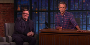 Seth Meyers Pitches New Musical to Nathan Lane Video