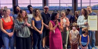 VIDEO: WAITRESS Company Celebrates 'Nick Cordero Day' Mayoral Proclamation Photo