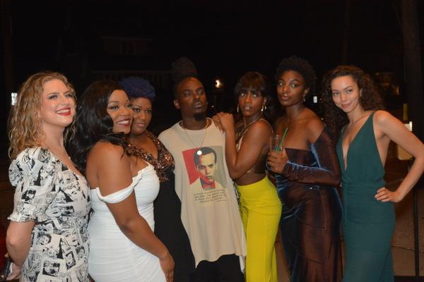 Jaret Landon with the ladies of the cast-Francesca Ferrari, Elizabeth Yetunde Adabale Photo