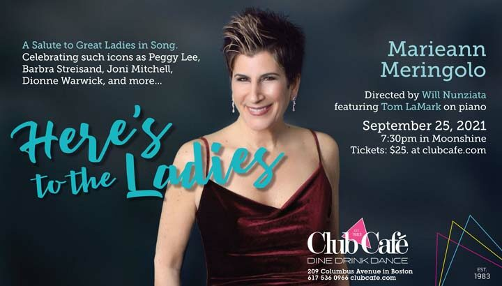 Marieann Meringolo Makes Boston Debut When HERE'S TO THE LADIES Plays The Club Cafe September 25th