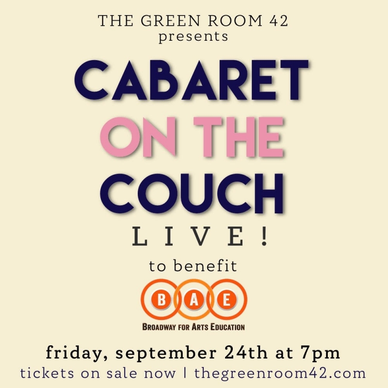 Vishal Vaidya, Keri René Fuller, Eleri Ward & More To Take Part In CABARET ON THE COUCH LIVE! at The Green Room 42