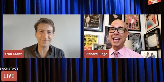 VIDEO: Fran Kranz Talks MASS on Backstage LIVE with Richard Ridge- Watch Now! Video