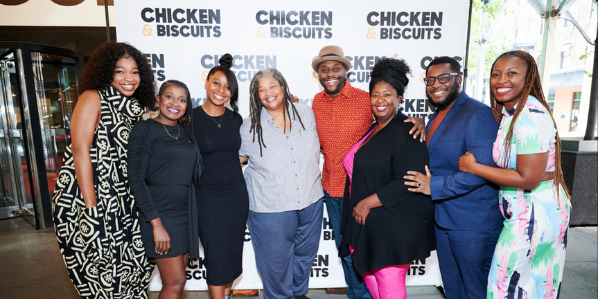 Photos: CHICKEN & BISCUITS Hosts a Picnic Outside the Circle in the Square Theatre Photo