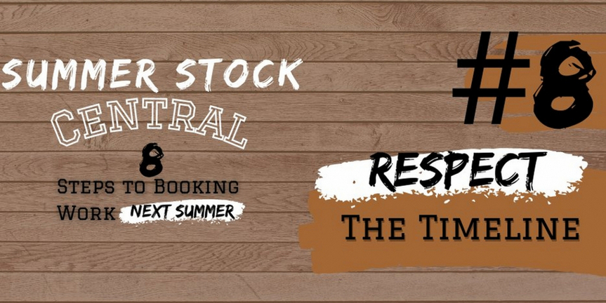 Student Blog: Summer Stock Central: Step #8| Respect The Timeline + Farewell Photo