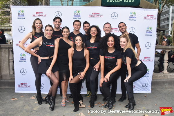 Bianca Marroquin, Ana Villafane and The Cast of Chicago that includes-  Mary Claire K Photo