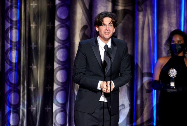 NEW YORK, NEW YORK - SEPTEMBER 26: Alex Timbers accepts the award for Best Direction  Photo