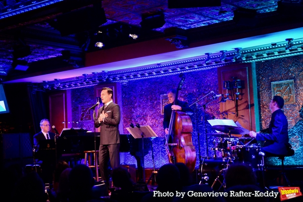Max Von Essen with the band- Billy Stritch (Music Director and Piano), Steve Doyle (B Photo