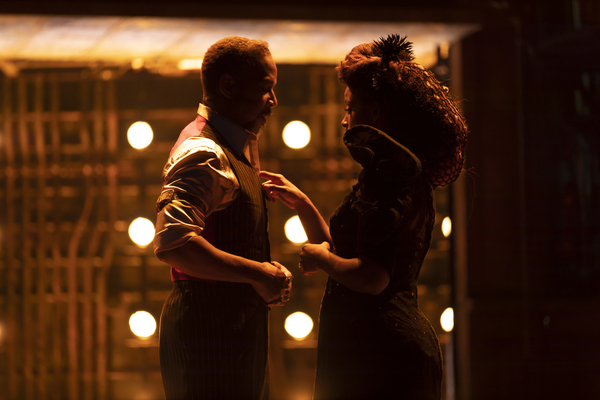 Kevyn Morrow and Kimberly Marable in the Hadestown North American Tour Photo