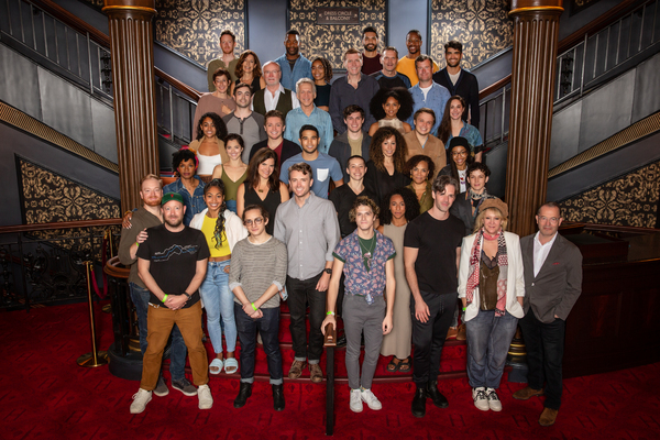 The Broadway company of Harry Potter and the Cursed Child with director John Tiffany  Photo