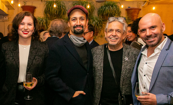 Photo 1: Lucille Oken (Community Relations Manager, Bank of America), Lin-Manuel Mira Photo
