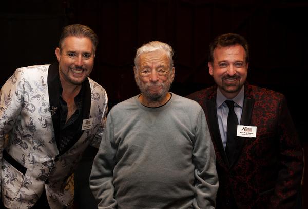 Managing Director, Robert Levinstein, Stephen Sondheim, Artistic Director Alan M-L Wa Photo