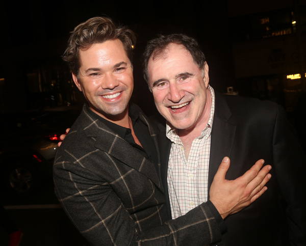 NEW YORK, NEW YORK - OCTOBER 13: Andrew Rannells and Richard Kind  Photo