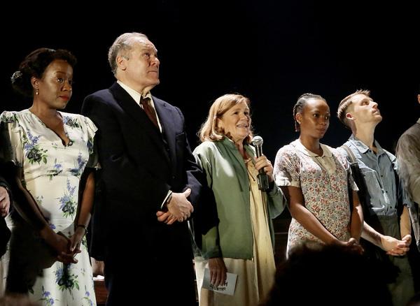 NEW YORK, NEW YORK - OCTOBER 13: (L-R) Jeannette Bayardelle, Jay O. Sanders, Mare Win Photo