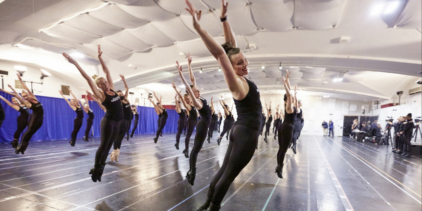 VIDEO: The Rockettes Get Back in Line to Rehearse for the 2021 CHRISTMAS SPECTACULAR Photo
