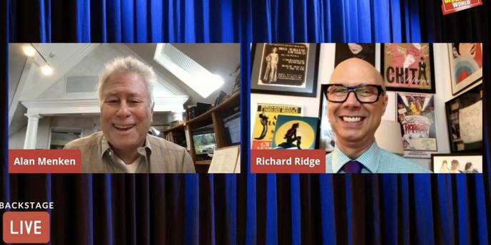 VIDEO: Alan Menken Visits Backstage LIVE with Richard Ridge- Watch Now! Video