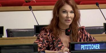 Nobel Peace Prize-Nominated Cynthia Basinet Highlights Media Abuse To The United Nations O Photo