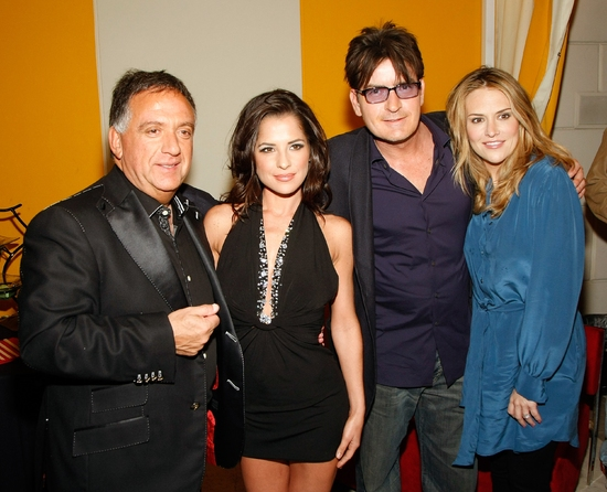 Robert Earl, Kelly Monaco, Charlie Sheen and Brooke Mueller at Las Vegas PEEP SHOW Opens at Planet Hollywood!