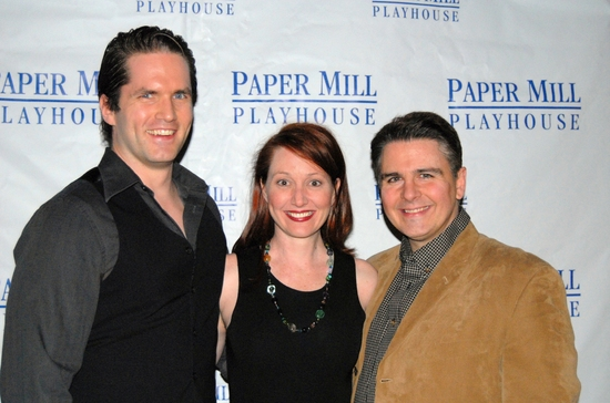 Aaron Ramey, Mary Mossberg (Understudy for both female roles) and Erick Buckley