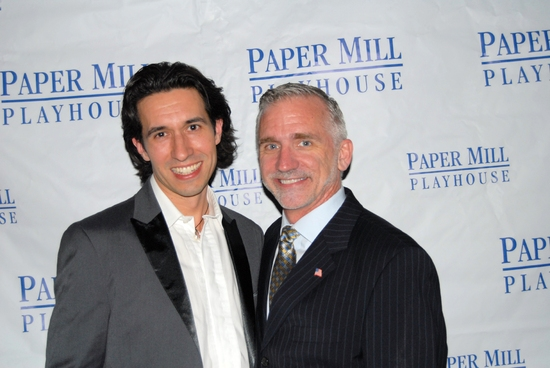 Josh Rhodes (Choreographer) and Mark. S. Hoebee at Paper Mill's '1776' Opening Celebration