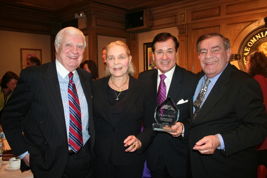 Bob Donahoe, Lauren Bacall, Lee Roy Reams and Freddie Roman