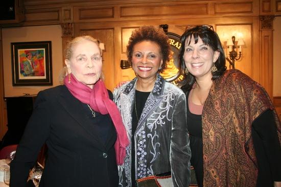 Laurem Bacall, Leslie Uggams and Christine Pedi
