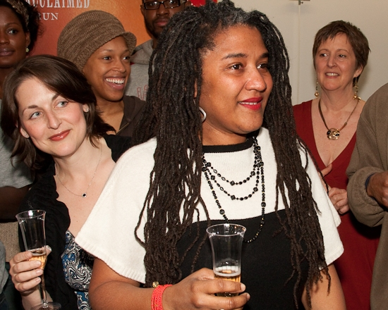Mandy Greenfield, Cherise Booth, Lynn Nottage, and Katherine Harber