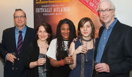 Barry Grove, Mandy Greenfield, Lynn Nottage, Kate Whoriskey, and Robert Falls at 'RUINED' Scribe Nottage Celebrates Pulitzer Prize Win