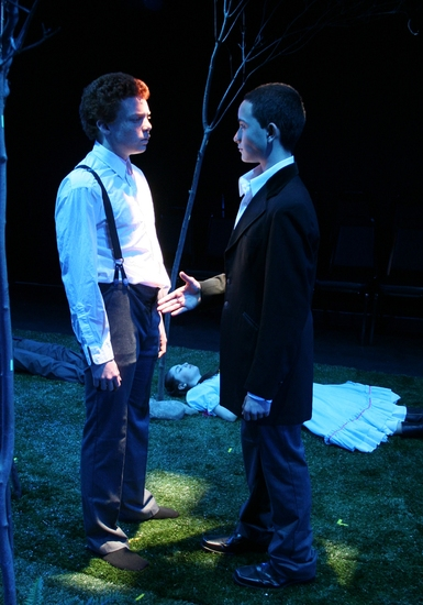 Paul McCallion and Carlos Rojas  at Zeitgeist Stage Presents Spring Awakening: The Play