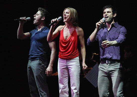 Josh Young, Jenn Colella, and Nicholas Galbraith