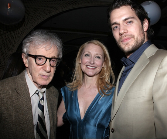 Woody Allen, Patricia Clarkson and Henry Cavill
