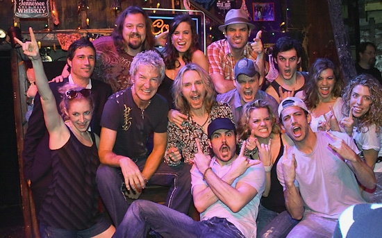 The cast with Matthew Fox, Kevin Cronin and Tommy Shaw